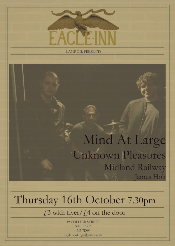The Mind At Large live @ The Eagle Inn, Salford - 16th Oct, 2014