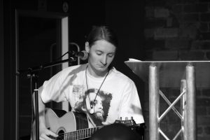 Tez Skachill performing @ the WE4POETS showcase event @ the International Anthony Burgess Foundation in Manchester - 12.07.14