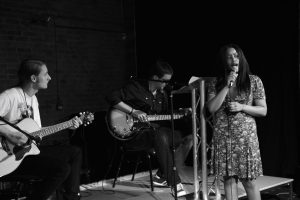 Tez Skachill performing with Laura Sinclair & Paul Clark@ the WE4POETS showcase event @ the International Anthony Burgess Foundation in Manchester - 12.07.14