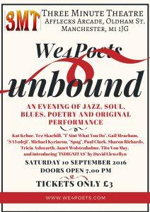 We4Poets Unbound - 10th Sep 2016