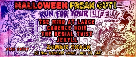 The Mind At Large live @ The Zombie Shack, Manchester - 30th Oct 2014