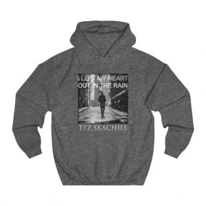 Tez Skachill - I Left My Heart Out In The Rain - pullover hoodie charcoal