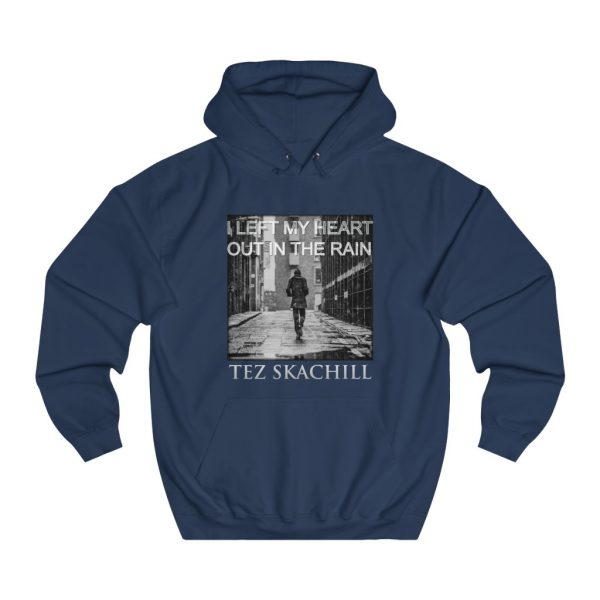 Tez Skachill - I Left My Heart Out In The Rain - pullover hoodie navy